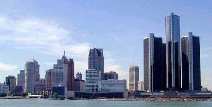 Photo of Detroit riverfront